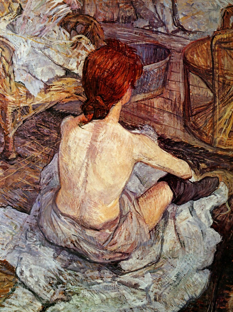 Toulouse-Lautrec-de-Henri-After-bathing-Sun